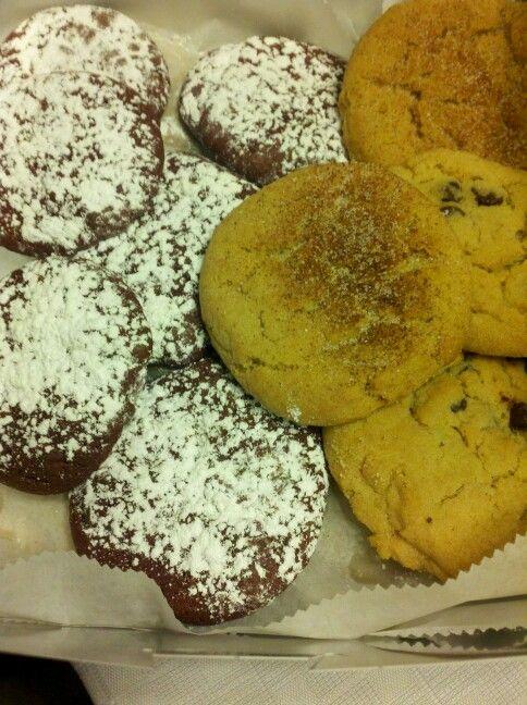 Tiff's treats snickerdoodle, red velvet, n choco chip cookies in Austin TX