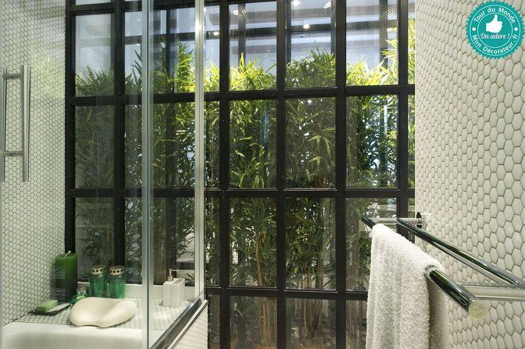 une salle de bain avec serre int rieure d couvrez tout l 39 appartement sur mon d corateur. Black Bedroom Furniture Sets. Home Design Ideas