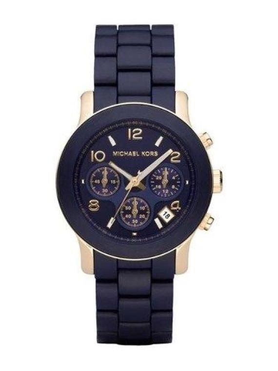 Relógio Feminino MK  emborrachado azul marinho - R$98.00