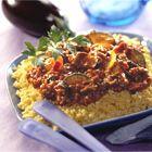 Cajun tarly met Quorn en Italiaanse groenten > kan ook met kipfilet of gehakt (ingrediënten: tarly, Quornstukjes/kipfilet/gehakt, cajunkruiden, olijfolie, courgette, rode paprika, mais, tomatensaus en peterselie) (@ Okoko Recepten)