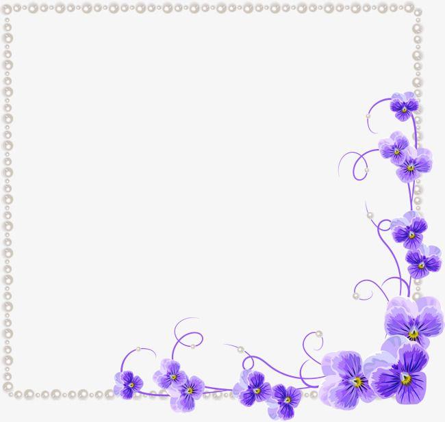 Purple Orchid Flower Border Texture Purple Orchids Flower Border Blue Flowers Background