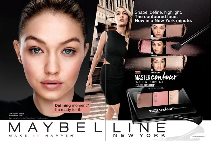 Maybelline Cosmetic Advertising Master Contour with Gigi