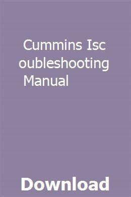 Cummins Isc Troubleshooting Manual pdf download online full