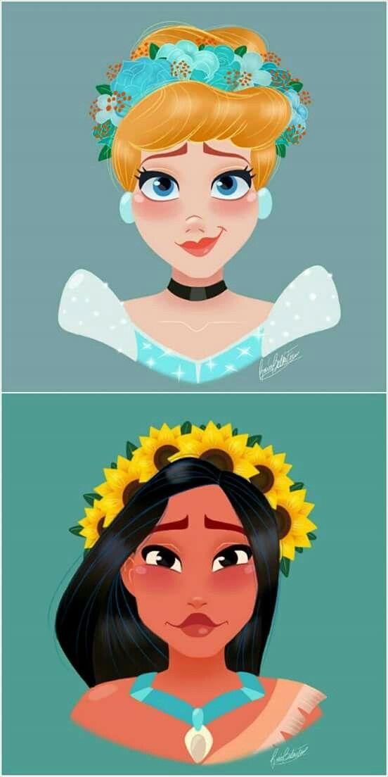 Cinderella and Pocahontas!