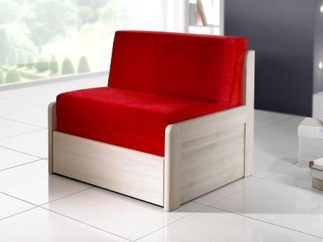 Rozkládací postel Quattro v provedení akát lamino (což je jedna ze 12 barev, ve kterých se postel vyrábí). Vyrábí se v rozměrech 80 x 200 cm (křešlo) a 140 x 200 cm (malá pohovka). /Quattro sofa bed in acacia laminate (which is one of 12 colours, in which the bed can be produced). It's produced in sizes 80 x 200 cm (chair) and 140 x 200 cm (small couch) #sofa #bed #storage #rozkladaci #postel #jmp #sleep #spanek
