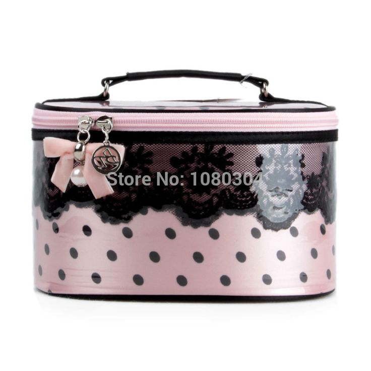 Find More Information about CB06 Fashion Nyclon Lace dot  cosmetic bag offers waterproof makeup  bag Large capacity bucket beauty bags,High Quality bag kraft,China bag gravel Suppliers, Cheap bag silicone from China Sungrow  Shop on Aliexpress.com