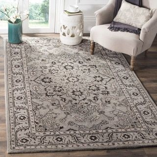 For Safavieh Handmade Antiquity Grey Beige Wool Rug 6 X 9
