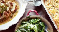30 Minute Meals: Pollo a la mostaza con unas rápidas patatas gratinadas, verdes y de postre affogato