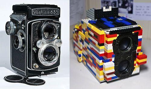 A Twin-Lens Reflex Camera Made Out Of LEGO Bricks