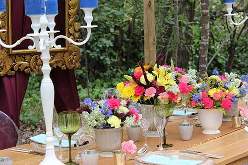 Summer inspired table decor #makeitamomenttoremember