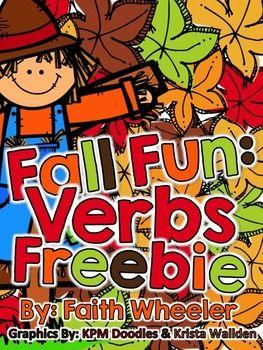 Language Arts - Fall Fun: Verbs Freebie
