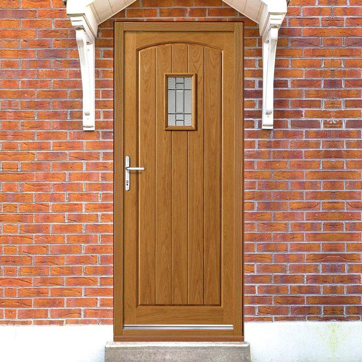 JBK Part L Compliant Traditional Exterior Mosel Oak Faced Door with Zinc (leadwork) Camings, Therm-L Safety Tri Glazing. #trraditionalexternaldoor #oakdoor #cottageoakdoor