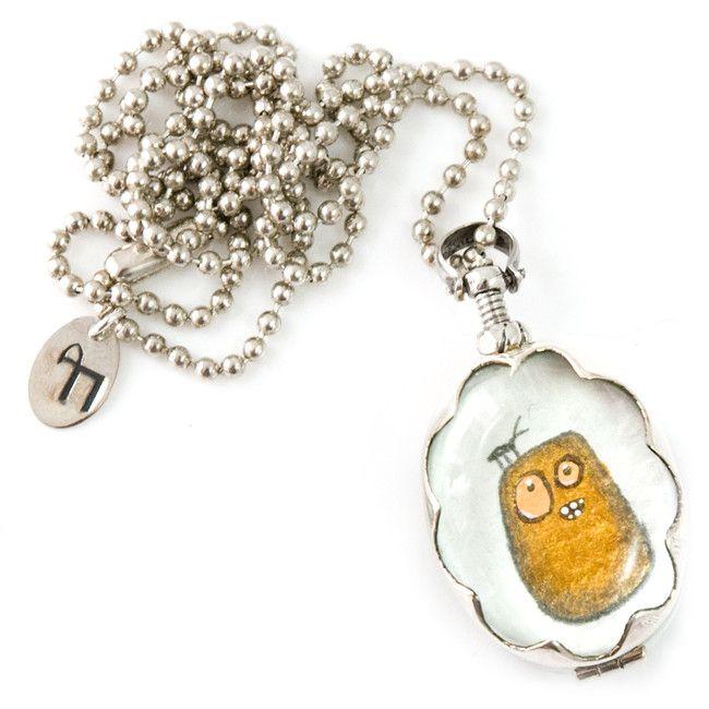 Karma locket - custom made from Applepiepieces