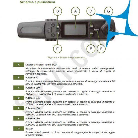 Chiave dinamometrica digitale fervi 0270 per gommisti