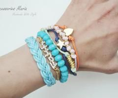 Bracelets summer 2014 | via Facebook #bracelets #colors #summer2014 #handmade #jewelry #accessoriesmaria