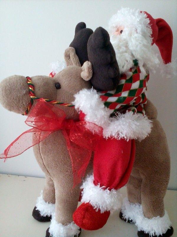 Reno con Noel de muñecos navideños blanca nieve