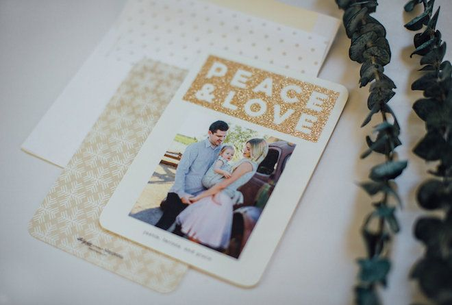 Living in Color | A Life & Style Blog: Glitter Holiday Cards + Tiny Prints $100 Giveaway