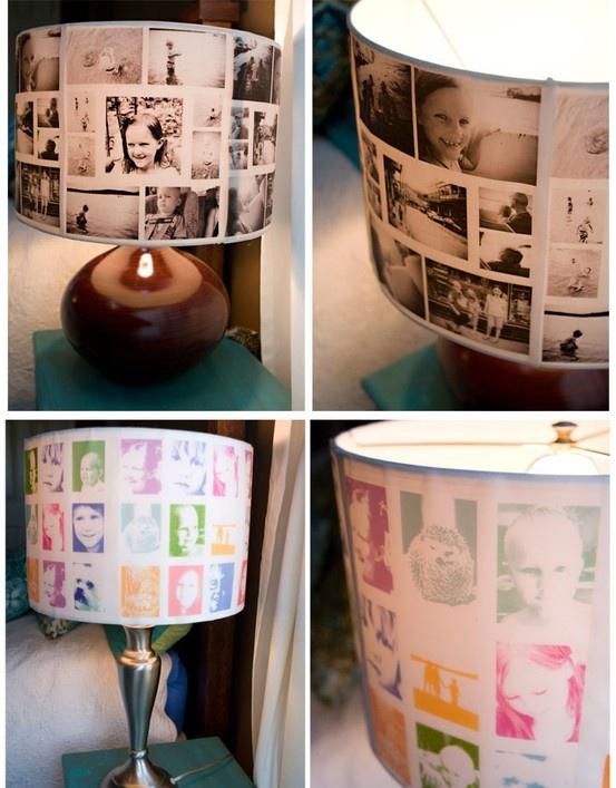 DIY Photo Lamp Shades