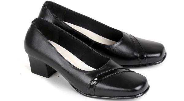 Sepatu Pantofel Kulit Wanita |Sepatu Kerja Wanita|Sepatu High Heels Cewek Mumer Kulit Formal Branded Murah Terbaru|ES 556