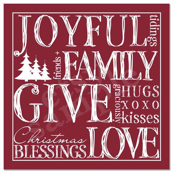 PRINTED  Christmas Wall Decor Christmas Print by palmettomama, $8.00