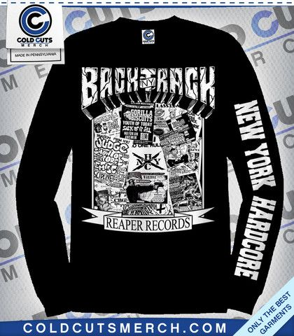 Backtrack nyhc reaper longsleeve band merchhardcore