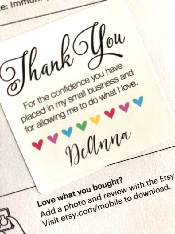 Thank You To My Customers : thank, customers, SELLER!, Thank, Sticker, Happy, Stickers, Small, Business, TYNAME, Notes,, Cards,, Customers