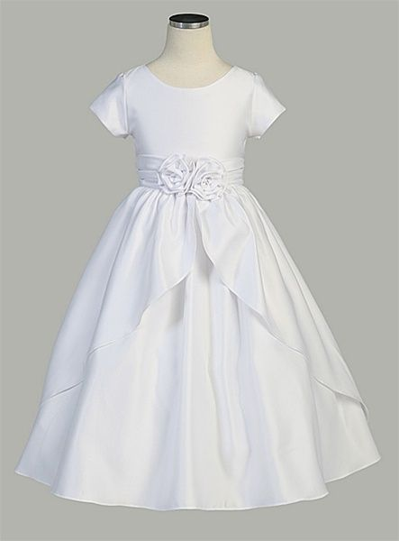 Pretty first communion dress, and it HAS SLEEVES!!! And it's only $59.99.