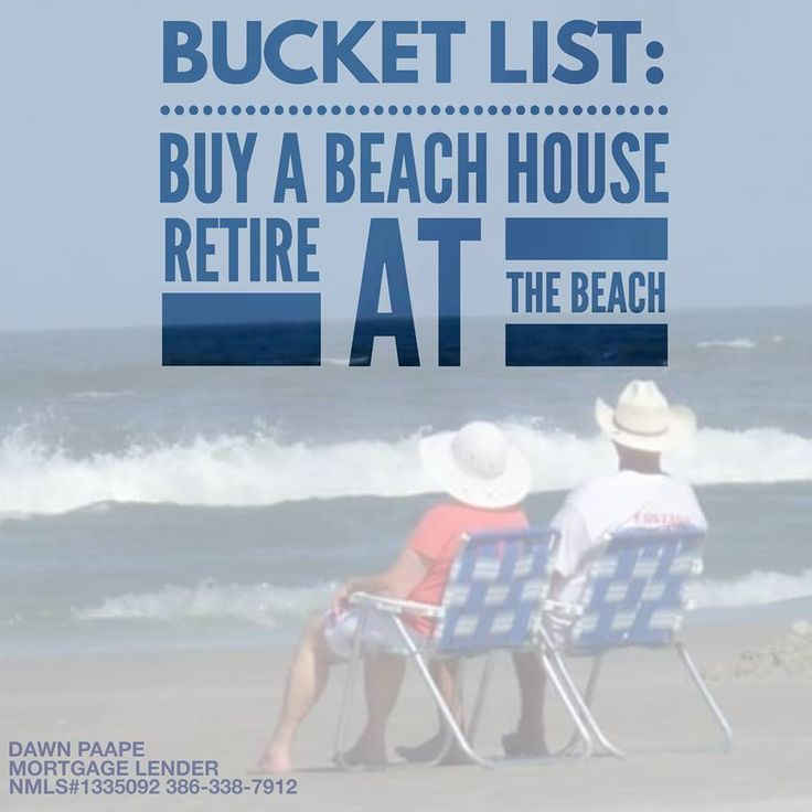 ✏ BUCKET LIST:   Buy a beach house!  Retire!  Go to the beach!  Go fishing! ⛵ Go boating!   Go surfing! Call or text me 24/7/365 for your mortgage pre-approval or any questions you may have, 386-338-7912; I'm here to help! #mortgage #loans #realty #realtor #realestate #home #veterans #retirement #investment #bucketlist #PalmCoast #FlaglerBeach #Orlando #Tampa #Miami #Florida #NewYork #saltlife #boating #fishing #surfing #golfing #lovefl