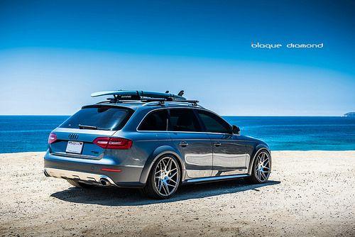2013 Audi Allroad staggered 20 Inch BD-3's Matte Graphite