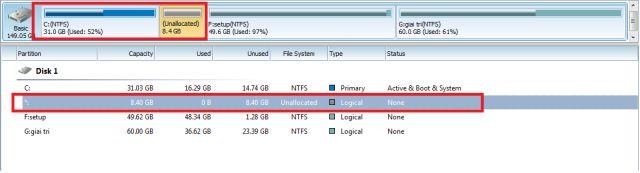 Chia dung lượng ổ cứng không mất dữ liệu - ảnh 5