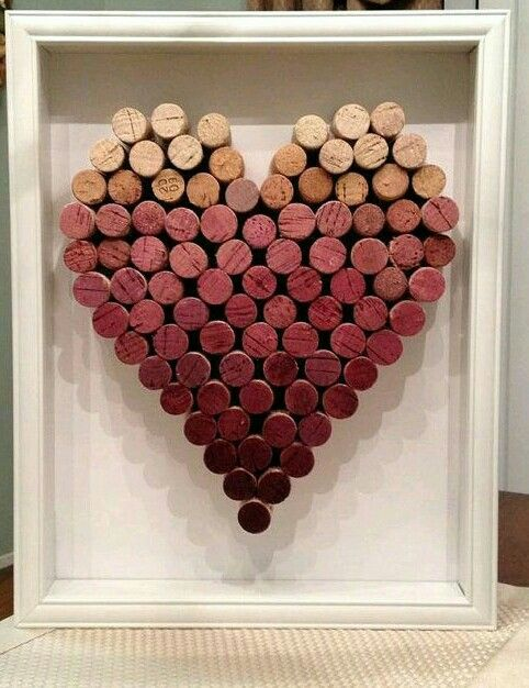 DIY ombre cork heart
