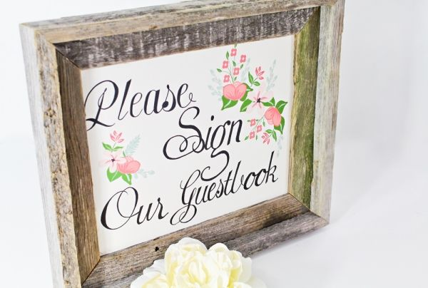 Guest book table printable