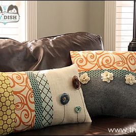 Inspiration File: Embellished Throw Pillow Tutorial {with video}