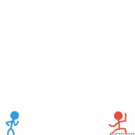 how to make a stick figure fighting animation