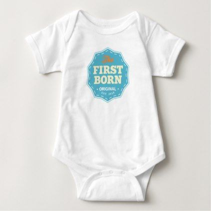 Customizable First Born T-shirt Blue - baby gifts child new born gift idea diy cyo special unique design