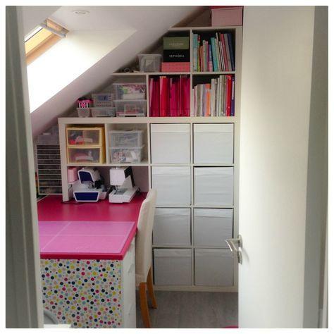 Atelier de couture (aménagements à base de meubles Ikea modifiés)