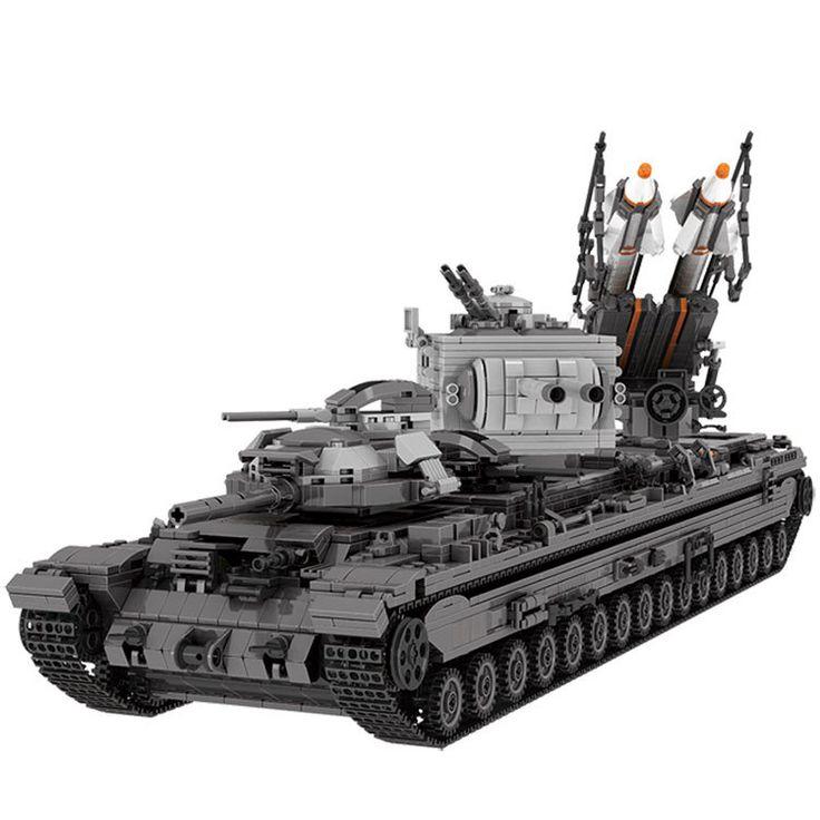3663Pcs Military KV-2 Tank Set Children Educational Building Blocks Bricks Toys