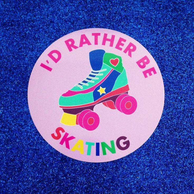 90s Vinyl Circle Stickers - Roller skate - Virtual Pet - Tamagotchi - Clackers (1.00 GBP) by fairycakes