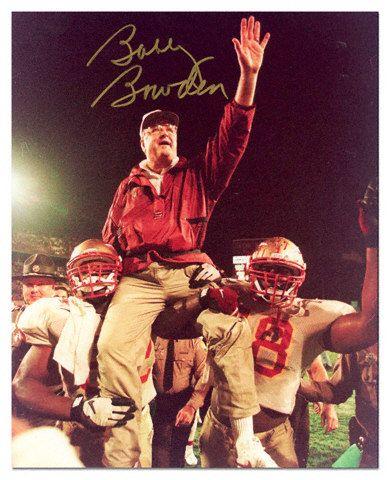 Florida State Seminoles Baseball | Bobby Bowden Florida State Seminoles - On Shoulders - Autographed 8x10 ...