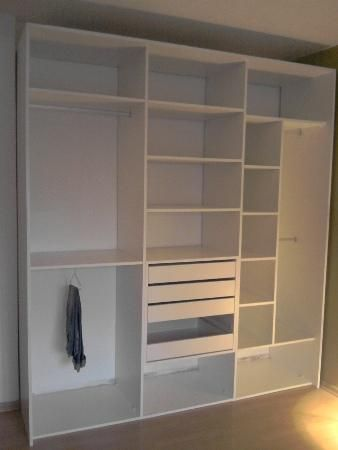 Mueble en melamina muebles pinterest for Armado de closet de melamina