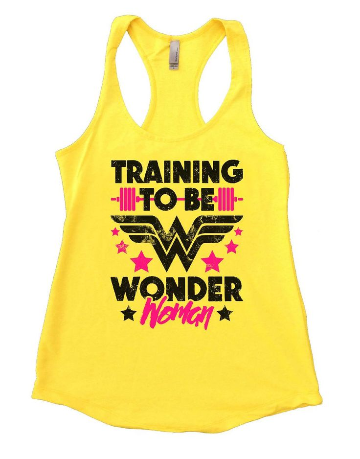 """""""TRAINING TO BE WONDER Woman"""" Awesome very high quality Flowy Tank Top. Workout in class, very soft material. Super lightweight around 5 ounces and very soft. They fit true to size and a little thicke"""