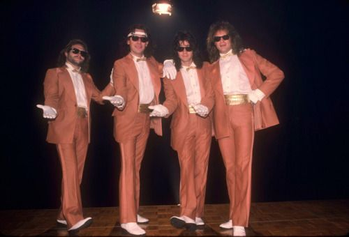 Van Halen in the Hot For Teacher video