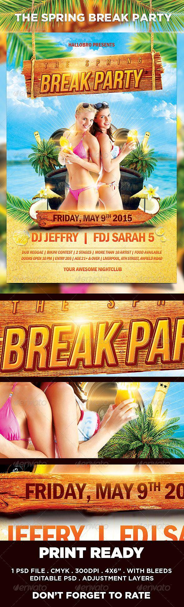 The Break Party Flyer