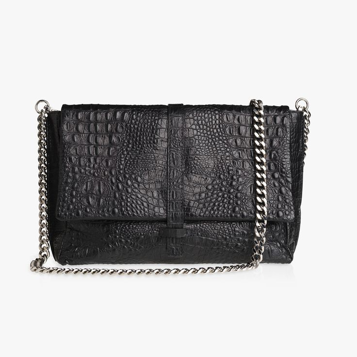 ALEX - BLACK CROC. The cool and boyish look of the ALEX bag makes our hearts skip a beat. It's the perfect everyday bag!