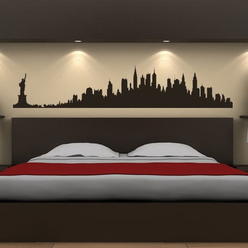 New York City Skyline Wall Stickers America USA Places Wall Art Decal  Transfers Part 95