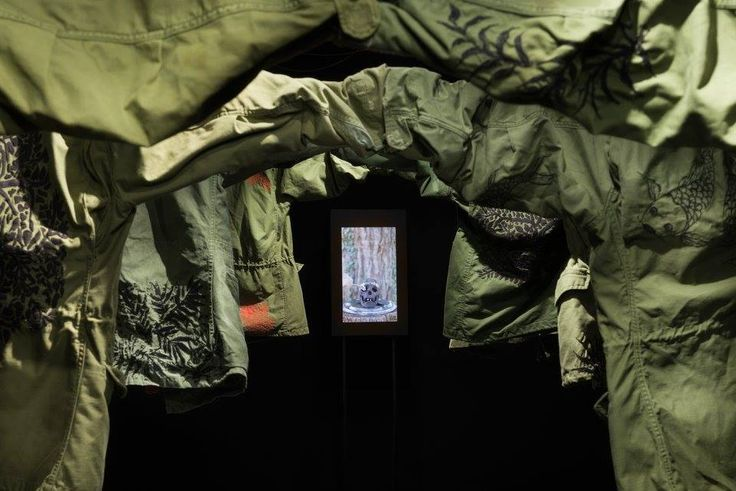 """Field Jacket Project"" 2016 detail of the site specific installation at Kinemax Gorizia / Italy"