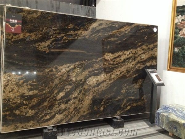 Possible countertop - High Quality Black Fusion Granite Slab, Brazil Black Granite #LGLimitlessDesign and #Contest