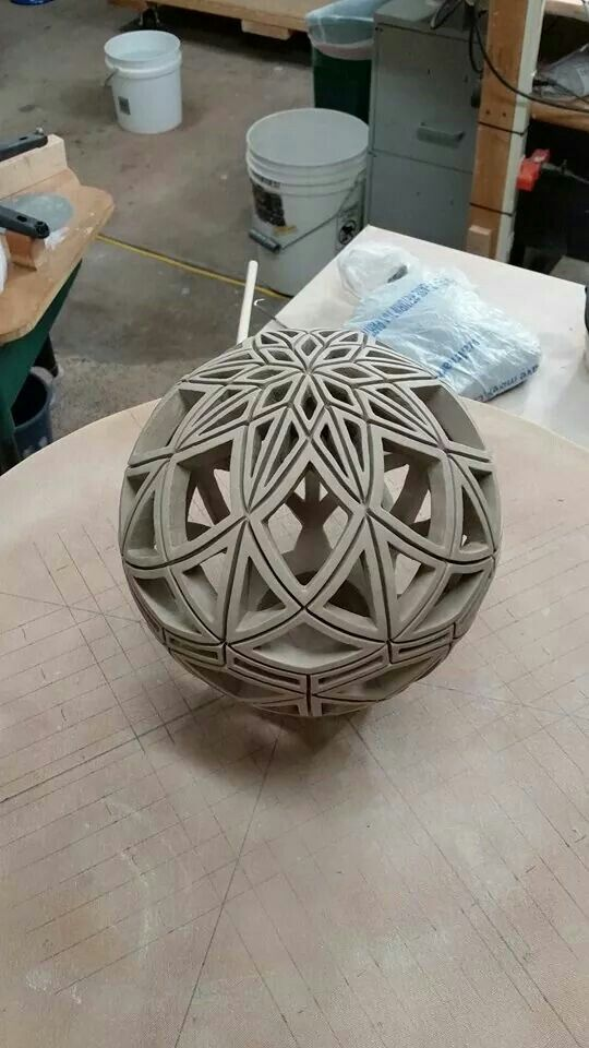 David Andersen's amazing incised ceramic sphere 2015