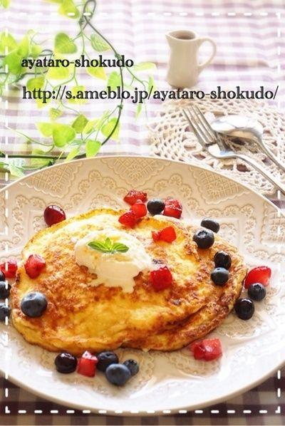 bills風リコッタチーズパンケーキ by 彩太郎さん | レシピブログ ...