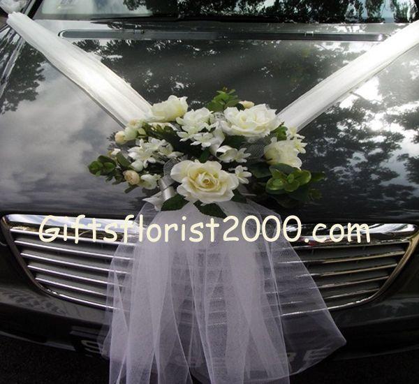 Artificial White Flowers-Wedding Car Decoration 22